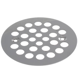 "4-1/4"" Strainer w/ Screws for Fiberglass Shower Stalls (Stainless Steel) Product Image"