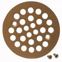 "4-1/4"" Strainer w/ Screws for Fiberglass Shower Stalls (Pearl Nickel) Product Image"