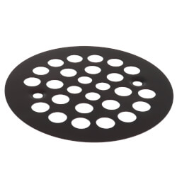 "4-1/4"" Strainer w/ Screws for Fiberglass Shower Stalls (Oil Rubbed Bronze) Product Image"