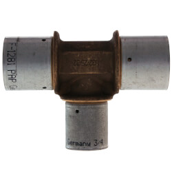 "1"" x 1"" x 3/4"" <br>PEX-AL-PEX Press Tee Product Image"