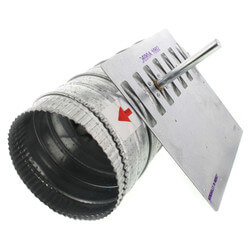 "6"" Single Blade<br>Round Damper Product Image"