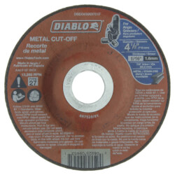 "4-1/2"" Metal Cut Off Disc - Type 27, Depressed Center Product Image"