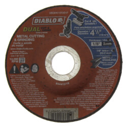 "4-1/2"" Metal Duo Cut & Grind Disc - Type 27, Depressed Center Product Image"