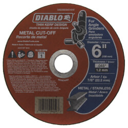 "6"" Metal Cut Off Disc w/ Thin Kerf Product Image"