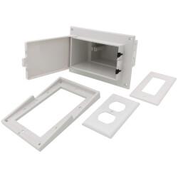 White Low Profile InBox for Retrofit Siding Construction (Vertical) Product Image