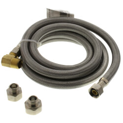 """72"""" Braided Stainless Steel Fits-All Dishwasher Connector (3/8"""" x 1/2"""" Compression) Product Image"""