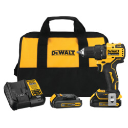 """Atomic 20V MAX 1/2"""" Brushless Compact Drill/Driver Kit w/ 2 Batteries, Charger, and Tool Bag Product Image"""