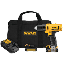 """12V Max 3/8"""" Cordless Drill Kit, 2 Batteries, and Charger Product Image"""
