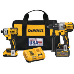 20V MAX Lithium-Ion Cordless Brushless Combo Kit (2 Tool) with FLEXVOLT, 20V Battery and Charger Product Image