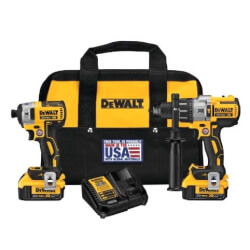 20V MAX XR Lithium-Ion Cordless Brushless Hammer Drill, Impact Combo Kit w/ 2 Batteries Product Image