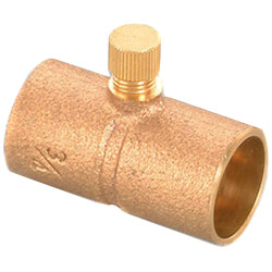 """1/2"""" Cast Brass Straight Drain Coupling with Cap (Lead Free) Product Image"""