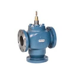 """2-1/2"""" 3-Way Diverting Valve w/ linear flow (Flanged) Product Image"""