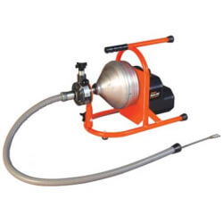 """Drain Cleaning Machine w/ 50' x 5/16"""" Cable and HECS Cutter Set Product Image"""