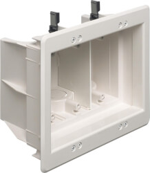 3-Gang Recessed Indoor InBox for New & Retrofit Construction (White) Product Image