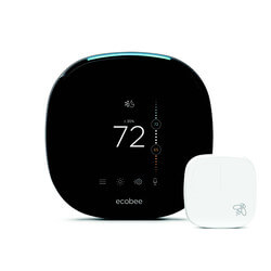 Ecobee4 Voice Enabled Smart Wi-Fi Thermostat w/ Room Sensor Product Image