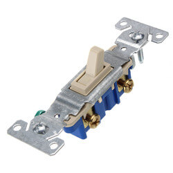 1P Ivory Toggle<br>Switch, 15A (120V) Product Image