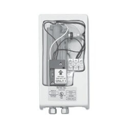 FC-SP35 Flow Controlled Electric Tankless Water Heater With Pipe Compression Fittings On Top Of Unit Product Image
