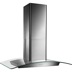 """36"""" Stainless Steel Island Glass Canopy Chimney Hood w/ Internal Blower (500 CFM) Product Image"""