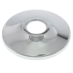 "3/8"" IPS Chrome Plated Steel Low Escutcheon<br>(2-1/2"" OD) Product Image"