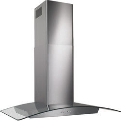 """30"""" Stainless Steel Glass Canopy Chimney Hood w/ Internal Blower (500 CFM) Product Image"""