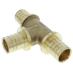 "2"" F2080 PEX Tee (Lead Free Brass) Product Image"