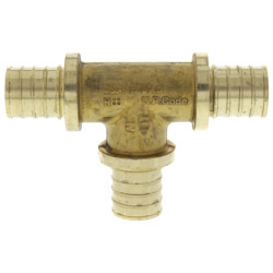 "3/4"" F2080 PEX Tee (Lead Free Brass) Product Image"