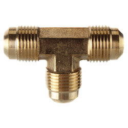 """(44-8) 1/2"""" Brass Flare Tee Product Image"""