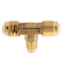 "(44-664) 3/8"" x 1/4"" Brass Reducing Flare Tee Product Image"