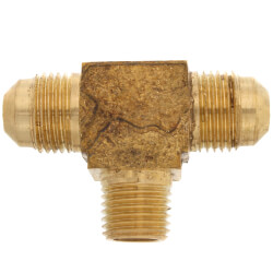 "(45-64) 3/8"" Flare x 1/4"" MIP Brass Branch Tee Product Image"