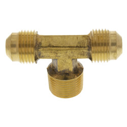 "(45-66) 3/8"" Flare x 3/8"" MIP Brass Branch Tee Product Image"