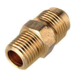 "(48-64) 3/8"" Flare x 1/4"" MIP Brass Half Union Product Image"
