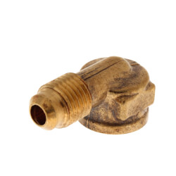 "(50-44) 1/4"" Flare x 1/4"" FIP Brass Elbow Product Image"