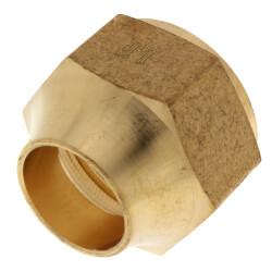 "(41S-12) 7/8"" OD Brass Short Flare Nut Product Image"