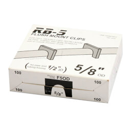 "Box of 100 Flush Mount Clips for 1/2"" PEX Product Image"