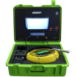 Luxury Portable High-Res Sewer/Drain Camera w/ 130' Cable & Built-In 512 Hz Sonde Transmitter Product Image