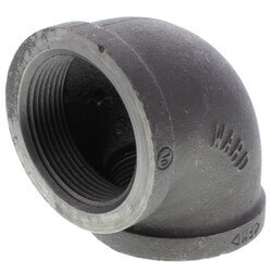 "2-1/2"" Black 90° Elbow Product Image"
