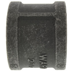"2-1/2"" Black Coupling Product Image"