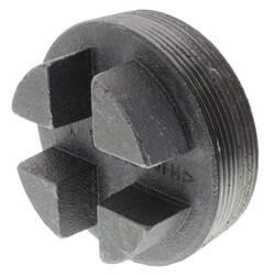 "4"" Black Regular<br>Cored Plug (Bar Head) Product Image"