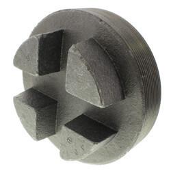"6"" Black Regular<br>Cored Plug (Bar Head) Product Image"