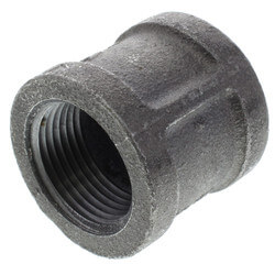 "1"" Black Right & Left Hand Thread Coupling Product Image"