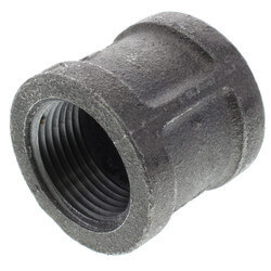 "1/2"" Black Right & Left Hand Thread Coupling Product Image"