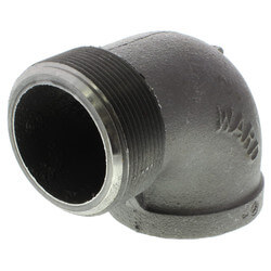 """2-1/2"""" Black 90°<br>Street Elbow Product Image"""