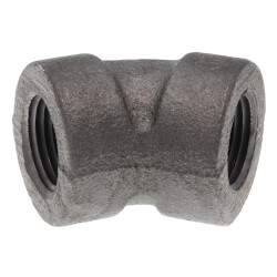 "1/2"" Black Cast Iron<br>Steam 45° Elbow Product Image"