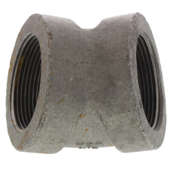 "2-1/2"" Black Cast Iron Steam 45° Elbow Product Image"