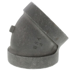 """3/4"""" Black Cast Iron<br>Steam 45° Elbow Product Image"""