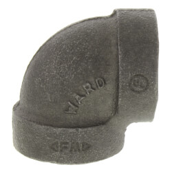 "1-1/4"" x 1"" Black <br>Cast Iron Steam 90° Elbow Product Image"