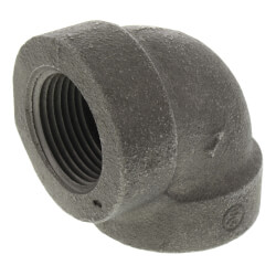 "1"" Black Cast Iron<br>Steam 90° Elbow Product Image"