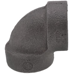 "1/2"" Black Cast Iron<br>Steam 90° Elbow Product Image"