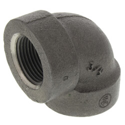 "3/4"" Black Cast Iron<br>Steam 90° Elbow Product Image"