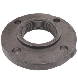 "3"" x 7-1/2"" Black Cast Iron Steam Companion Screwed Flange Product Image"
